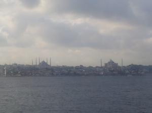 Istanbul vom Mündung Bosporus ins Marmarameer