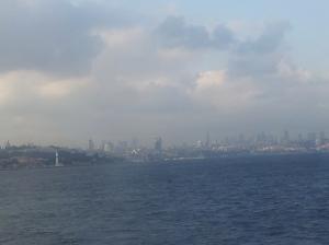Istanbul vom der Bosporusmündung gesehen