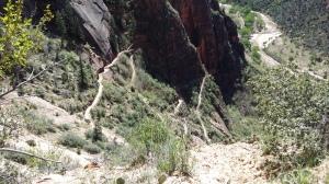Aufstieg über Weeping Rock