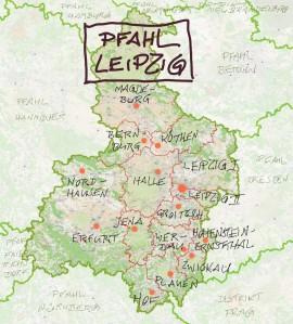 Karte Pfahl Leipzig