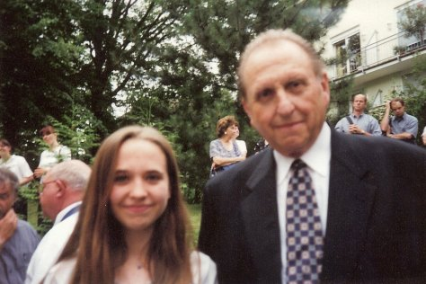 Pres Monson & Nanne 2001