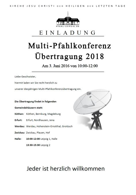 Multi-Pfahlkonferenz 2018